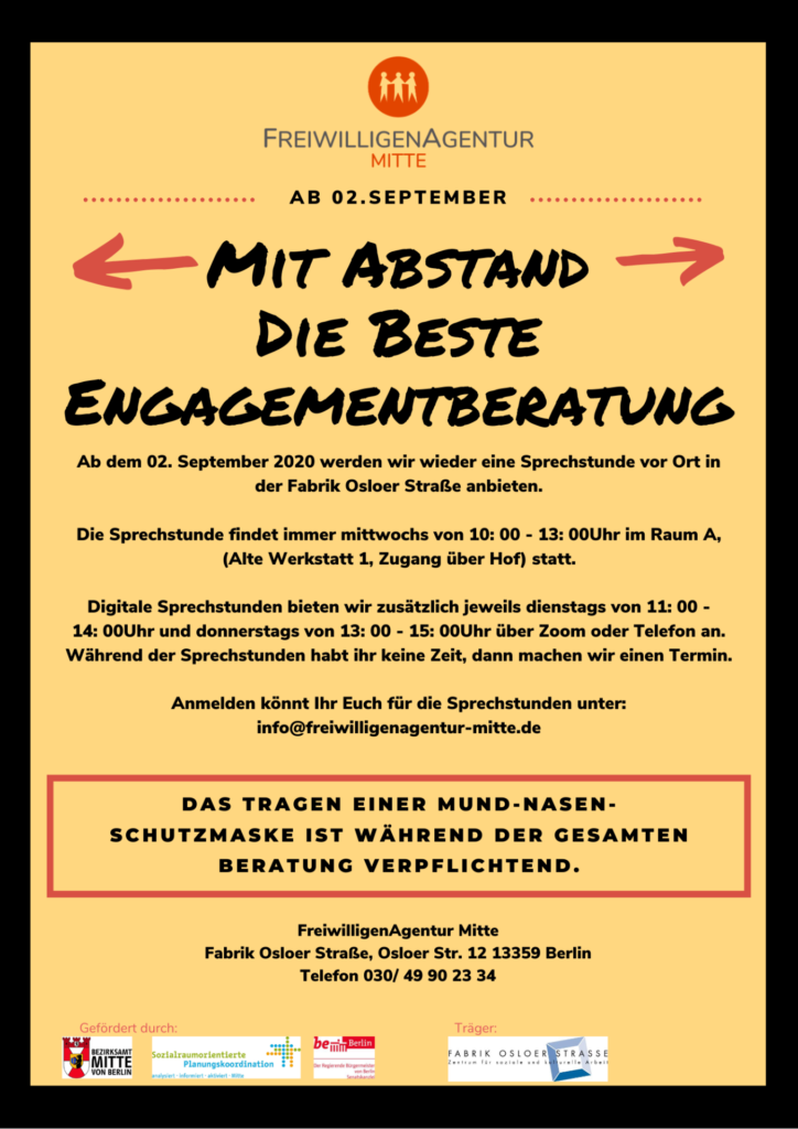 Plakat der Starts vor Ort am 02. September